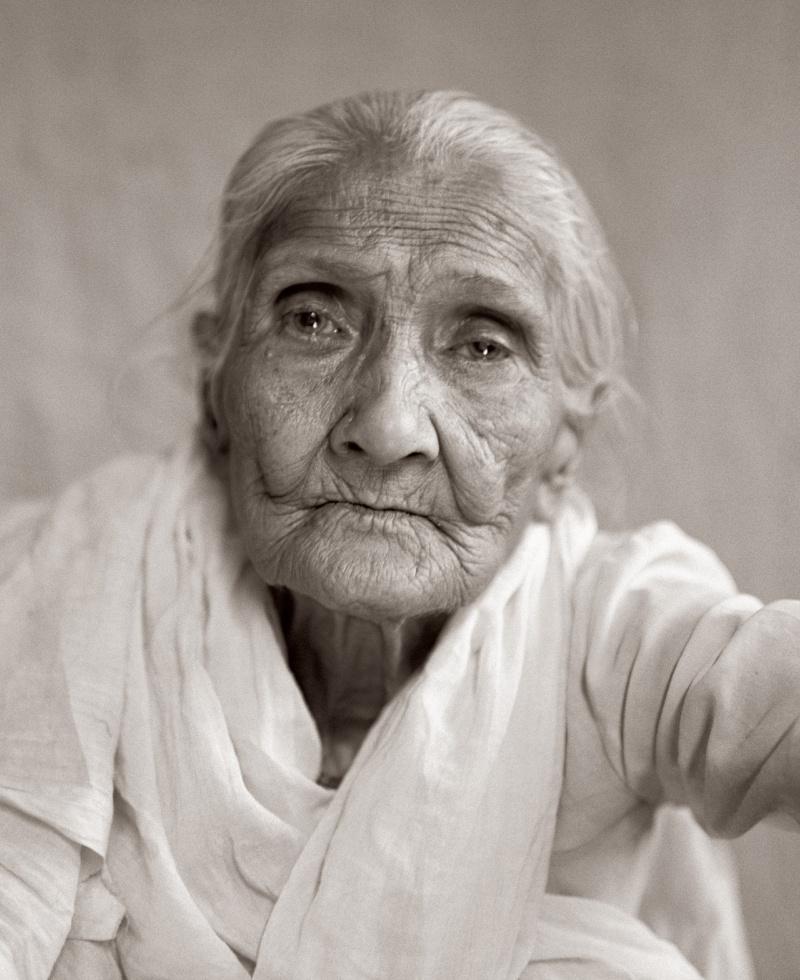 "Fazal Sheikh, Suniti Chatterjee (""Good Rule""), Bhajan Ashram, Vrindavan, 2003. © Fazal Sheikh; courtesy of Pace/MacGill Gallery, New York."
