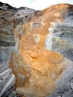 CLUI, Recent landslide at Bingham Canyon Mine, 2013.