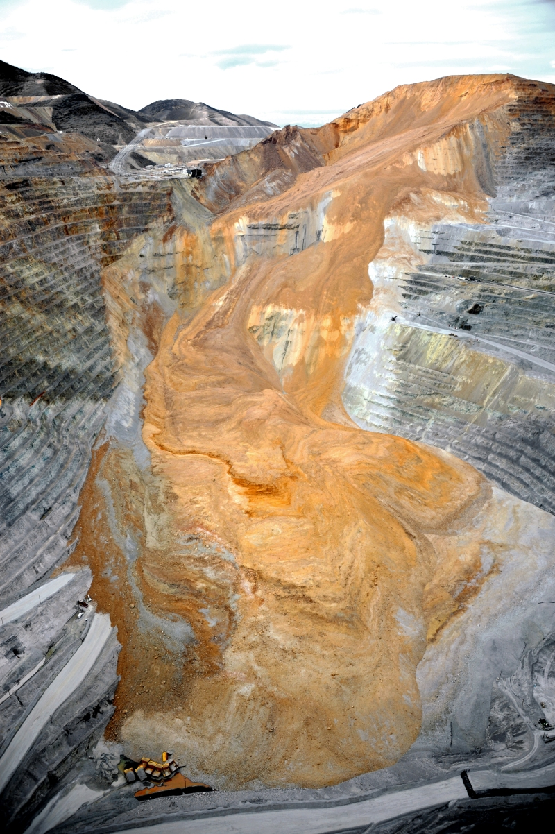CLUI, Recent landslide at Bingham Canyon Mine, 2013.
