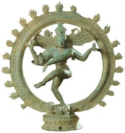 Dancing Shiva (Siva Natarja—King of Dancers), ca. 12-13th CE, bronze,  gift of the Christensen Fund, UMFA2001.11.1.